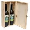 Cutie Din Lemn Pentru 2 Sticle De Vin