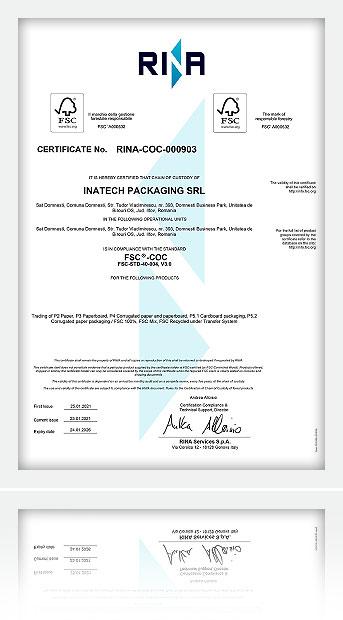 Certificare Rina FSC